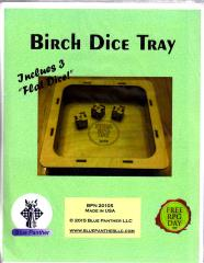 Birch Dice Tray w/3 Flat Dice (Free RPG Day 2015)