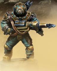 Junker Piston w/Harpoon Gun & Metallic Armor