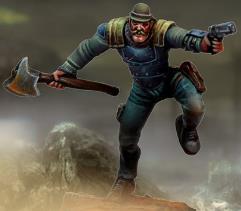Junker Piston w/Heavy Blade, Ballistic Punch, Pistol & Metallic Armor