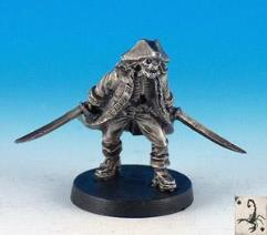Undead Captain (Resin) - Fantasy Pirates Mini 32mm - Noble Knight Games