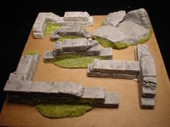 Jungle Ruin Walls - Grey