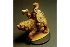 Dwarian Captain on Bear