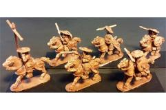 Stygian Cavalry w/Throwing Spears, Bows and Shields on Unarmored Horse