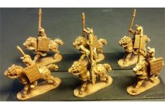 Pyramain Cavalry w/Spears and Shields on Unarmored Horse