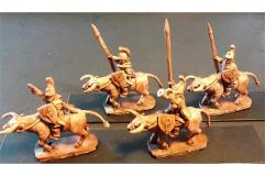 Legian Cavalry w/Spears and Shields on Unarmored Bulls