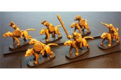 Cavalry w/Swords and Shields on Unarmored Ratweillers