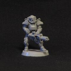 Soldier in Power Armor w/Heavy Weapon