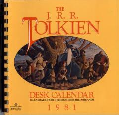 1981 J.R.R. Tolkien Desk Calendar