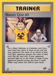 Blaine's Quiz #3 (U) #112 (1st Edition)