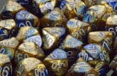 D10 Blue & Gold w/White (10)