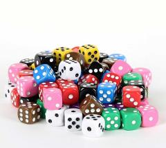 Bulk Dice Set - Pipped Opaque d6 (100)