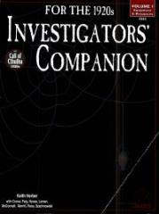 Investigators' Companion #1 - Equipment & Resources