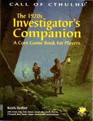 1920's Investigator's Companion, The (1st Printing)
