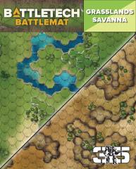 Battle Mat - Grasslands Savannah