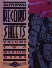Record Sheets #2 - Medium Mechs