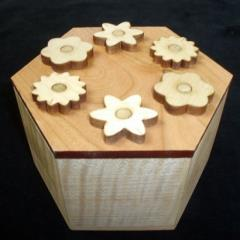 Hexagon Secret Lock Puzzle Box