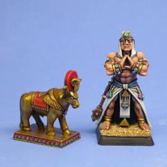 Priest of Ptah w/Apis Bull Statue