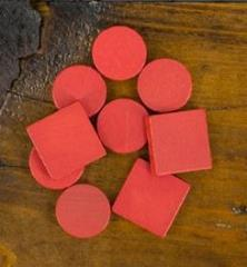 Cities & Knights Wood Base Set - Red (9)