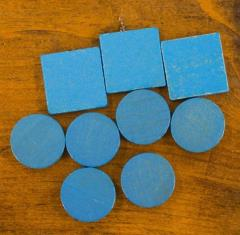 Cities & Knights Wood Base Set - Blue (9)