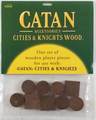 Cities & Knights Wood Base Set - Brown (9)