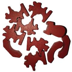 Traders & Barbarians Wooden Game Pieces - Red