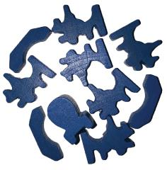 Traders & Barbarians Wooden Game Pieces - Blue