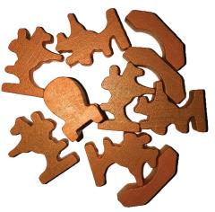 Traders & Barbarians Wooden Game Pieces - Orange