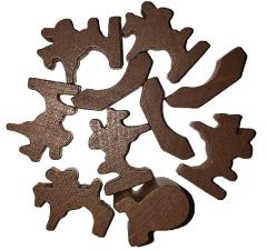 Traders & Barbarians Wooden Game Pieces - Brown