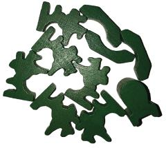 Traders & Barbarians Wooden Game Pieces - Green