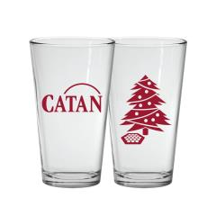 Glass Christmas Pint Set