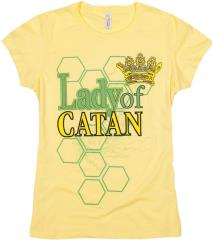 Lady of Catan T-Shirt - Yellow (L)