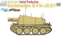 Sd.Kfz.138/1 Geschutzwagen 38 H fur sIG.33/1 - Initial Production