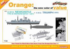 H.M.S. Newcastle Type 42 Batch 1 Destroyer & H.M.S. Triumph (S93)