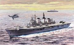 H.M.S. Invincible Light Aircraft Carrier - Falklands War
