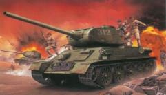 Chinese Volunteer T-34/85 w/Chinese Volunteers