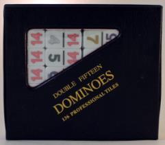Double Fifteen Standard Dominoes (Set of 136)