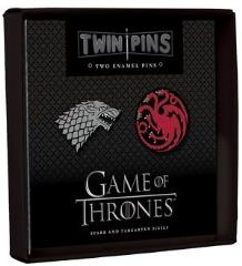 Twin Pins - Stark and Targaryen Sigils