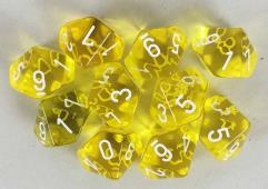 d10 Yellow w/White (10)