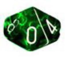 D10 Green w/White (10)