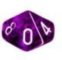 d10 Purple w/White (10)