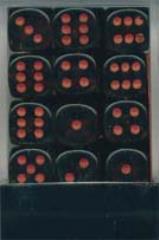 d6 12mm Smoke w/Red (36)