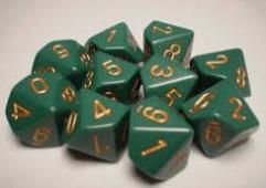 d10 Dusty Green w/Copper (10)