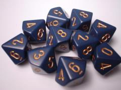 d10 Dusty Blue w/Copper (10)