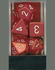Poly Set Red w/White (7)