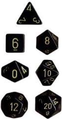Poly Set Black w/Gold (7)