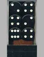 d6 16mm Black w/White (12)