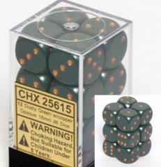 d6 16mm Dusty Green w/Copper (12)