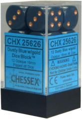 d6 16mm Dusty Blue w/Copper (12)