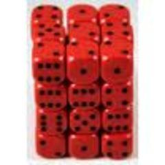 d6 12mm Red w/Black (36)