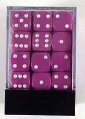 d6 12mm Light Purple w/White (36)